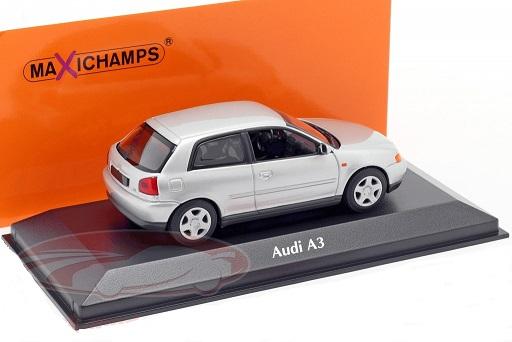 Audi A3 1996 Zilver 1-43 Maxichamps
