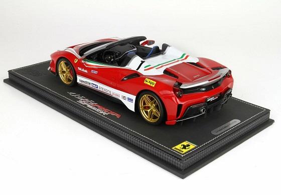 "Ferrari 488 Pista Spider 2018 ""Lauda"" Rood / Wit 1-18 Inkl. Vitrine BBR Models Limited 138 Pieces"