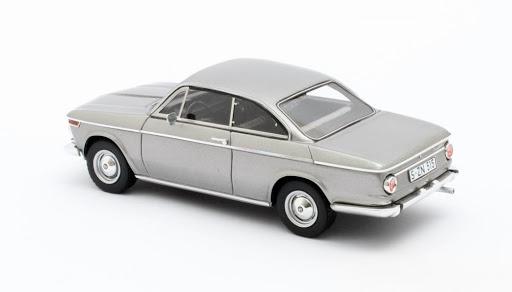 BMW 1600-2 Bauer Coupe 1967 Zilver Metallic 1-43 Matrix Scale Models Limited 408 pcs.