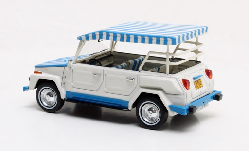 "Volkswagen ""the Thing"" Acapulco Edition Brazilia 1979 Wit/Blauw 1-43 Matrix Scale Models Limited 500 pcs."