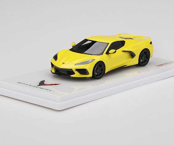 Chevrolet Corvette C8 Stingray 2020 Geel Metallic 1-43 True Scale Miniatures