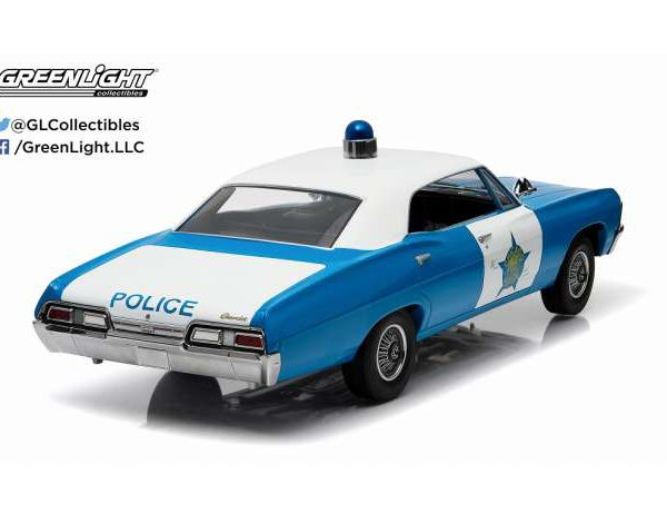 "Chevrolet Biscayne 1967 ""Chicago Illinois Police"" *Artisan Collection*, Blue/White 1-18 Greenlight Collectibles"