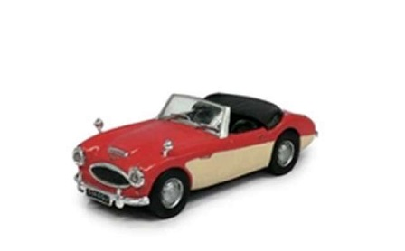 Austin Healey Cabriolet Rood / Creme 1-43 Cararama