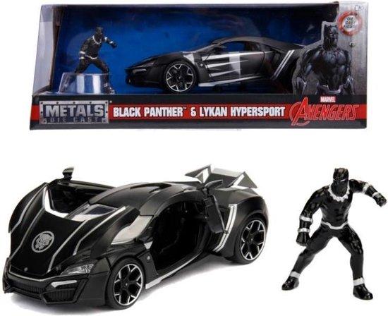 Black Panther & Lykan Supersport ( Marvel Avengers ) Zwart 1-24 Jada Toys