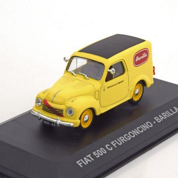 "Fiat 500C Furgoncino ""Barilla"" 1951 Geel 1-43 Altaya"