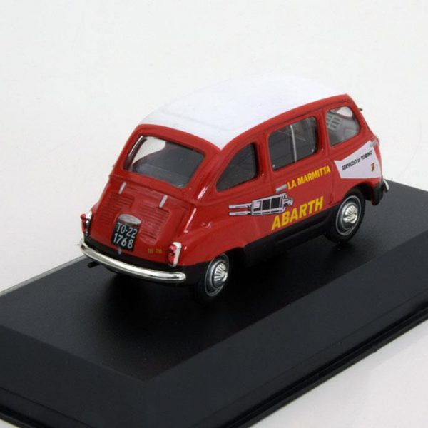 Fiat 750 Multipla Abarth 1960 Rood / Wit 1-43 Altaya