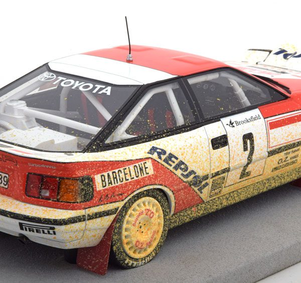 """Toyota ST 165 Winner Rally Monte Carlo 1991 """"Dirty Look"""" Sainz/Moya 1-18 Top Marques Limited 150 Pieces ( Resin )"""