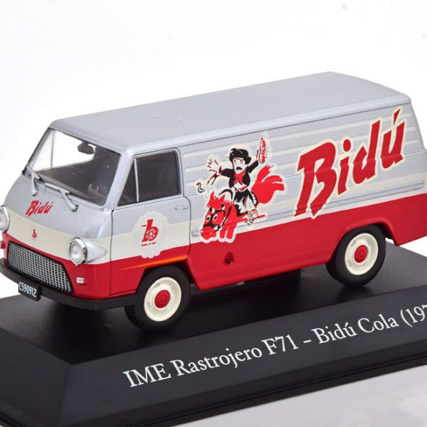 "IME Rastrojero F71 ""Bidú Cola"" 1974 Grijs / Rood 1-43 Altaya"