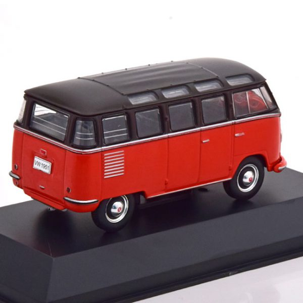 "Volkswagen T1 ""Samba Bus"" 1961 Rood / Zwart 1-43 Altaya Volkswagen Collection"
