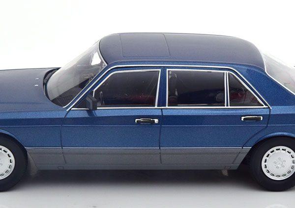 Mercedes-Benz 560 SEL 1985 ( W126 Facelift ) Blauw Metallic 1-18 Iscale