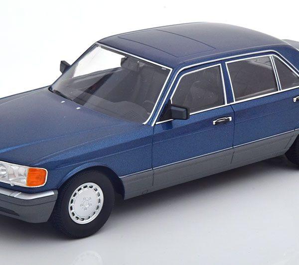 Mercedes-Benz 560 SEL ( W126 Facelift ) Blauw Metallic 1-18 Iscale