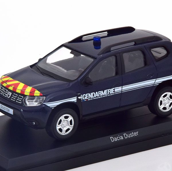 "Dacia Duster 2018 ""Gendarmerie"" Blauw 1-43 Norev"