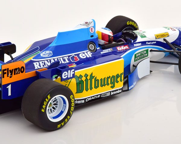 Benetton Renault B195 Winner GP Monaco 1995, World Champion M.Schumacher 1-18 Minichamps Limited 450 Pieces