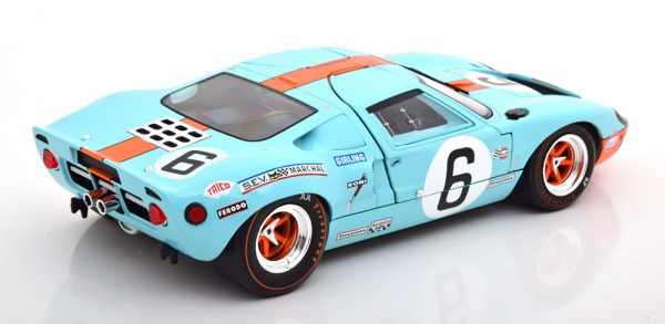 """Ford GT40 MK1 Winner 24Hrs Le Mans 1969 """"Gulf"""" Ickx/Oliver 1-18 Solido"""