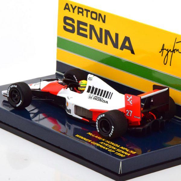 McLaren Honda MP4/5B Winner GP Germany 1990, World Champion Ayrton Senna 1-43 Minichamps