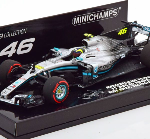 Mercedes-AMG Petronas Motorsport F1 W08 EQ Power+ Valentino Rossi Ride Swap Valencia 10th December 2019 1-43 Minichamps Limited 804 Pieces
