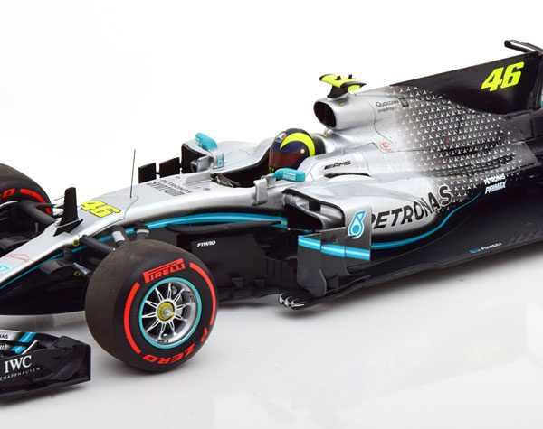 Mercedes-AMG Petronas Motorsport F1 W08 EQ Power+ Valentino Rossi Ride Swap Valencia 10th December 2019 1-18 Minichamps Limited 804 Pieces