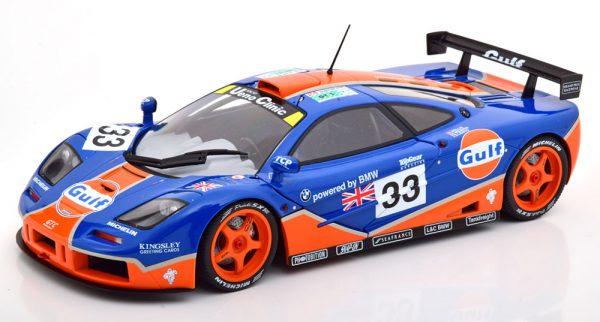 "McLaren F1 GTR No.33, 24Hrs Le Mans 1996 ""Gulf"" Lehto/Weaver/Belm Blauw / Oranje 1-18 Solido"