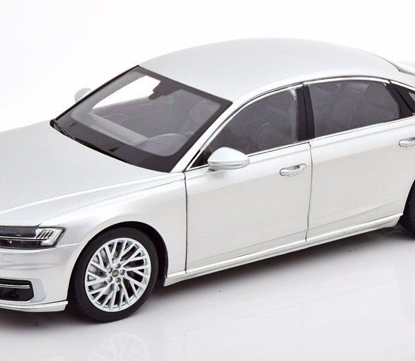 Audi A8 L 2018 Zilver -18 Norev