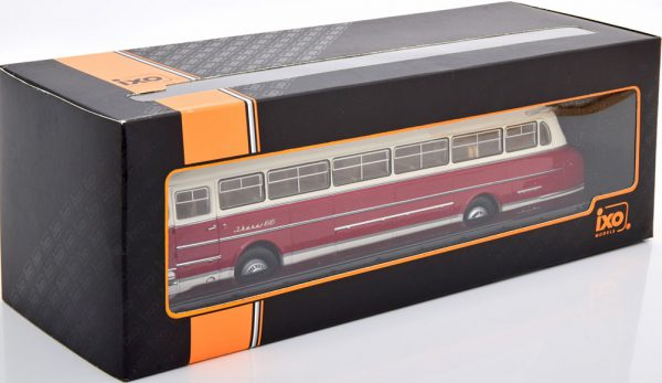 Ikarus 66 1972 Wit / Donkerrood 1-43 Ixo Models