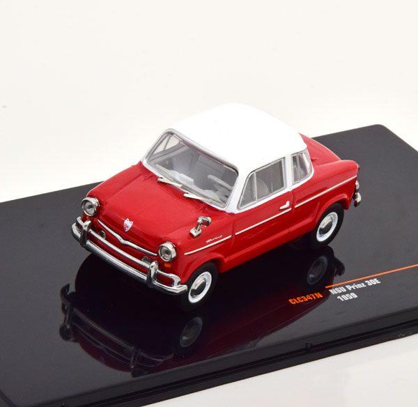 NSU Prinz 30E 1959 Rood / Wit 1-43 Ixo Models