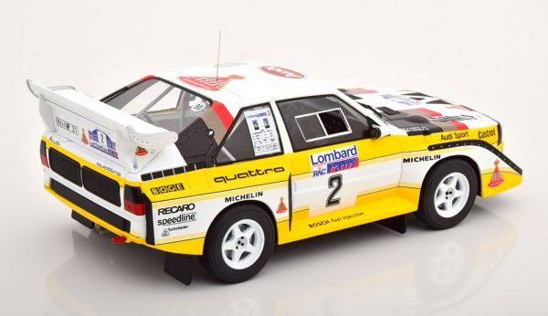 "Audi Sport Quattro S1 No.2, RAC Rally 1985 ""HB"" Mikkola/Hertz 1-18 Ixo Models"