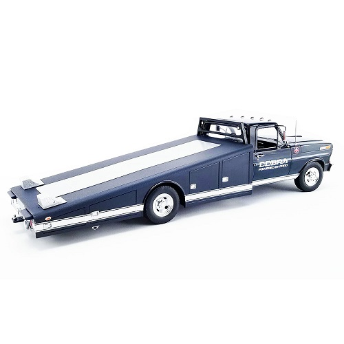"""Ford F350 Ramp Truck 1970 """"Shelby"""" Donkerblauw 1-18 GMP"""