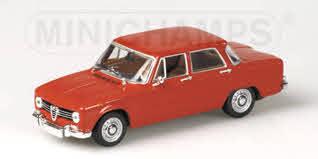 Alfa Romeo Giulia 1970 1-43 Rood Minichamps Limited 3024 pcs.