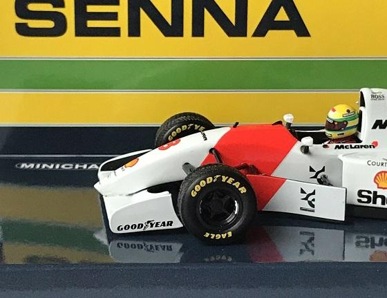 McLaren Ford MP4/8 Ayrton Senna Winner European GP 1993 1-43 Minichamps Limited 720 Pieces