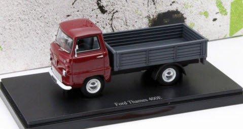 Ford Thames 400E Pickup (1957) Bordeaux Rood / Grijs 1-43 Autocult Limited 333 Pieces