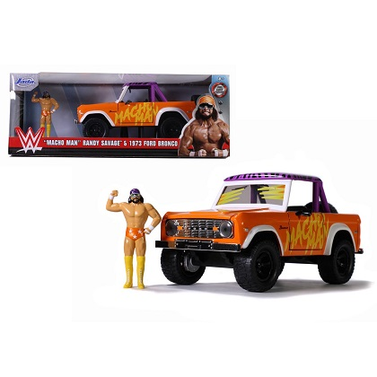 "Ford Bronco 1973 & ""Macho Man"" Randy Savage Inkl. Figure 1-24 Jada Toys"
