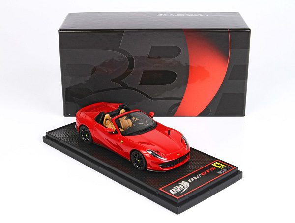 Ferrari 812 GTS 2019 Rosso Corsa 322 Red / Black Wheels 1-43 BBR Models Limited 48 Pieces