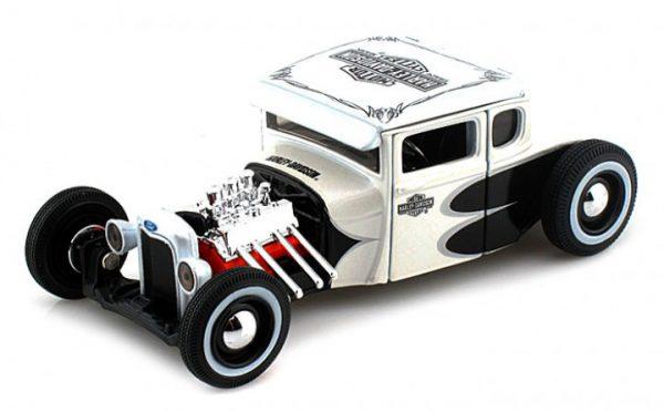 "Ford Model A 1929 ""Harley Davidson"" Parelmoer / Zwart 1-24 Maisto"