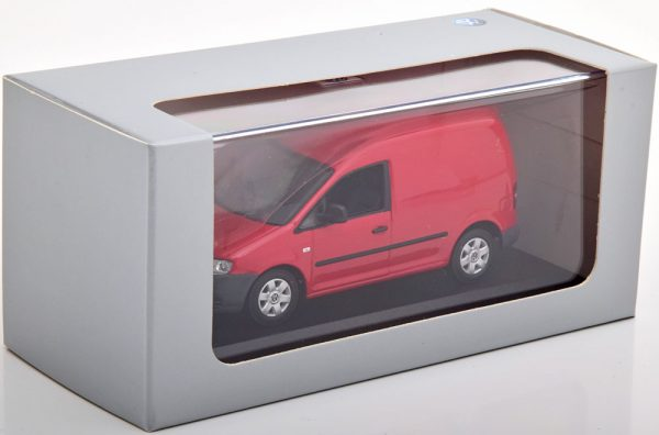 Volkswagen Caddy 2005 Rood 1-43 Minichamps ( Dealer )