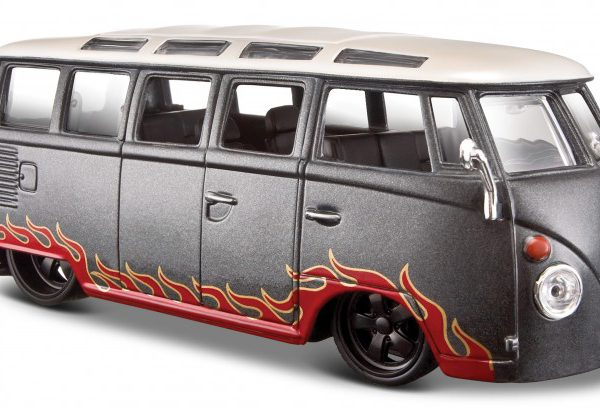 "Volkswagen T1 Bus ""Samba""Grijs / Rood 1-24 Maisto Design"
