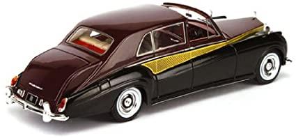 Rolls-Roys Phantom V Sedanca de Ville 1962 Zwart/Rood 1-43 True Scale Miniatures