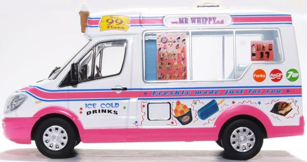 Whitby Mondial Ice Cream Van Mr.Whippy 1-43 Rose/Wit Oxford