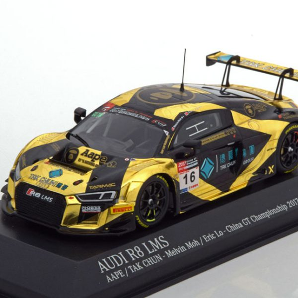 Audi R8 LMS No.16, AAPE / TAK Chun China GT Championship 2017 Melvin Moh - Eric Lo Tarmac Works Edition 1-43 Made by Minichamps Limited Edition