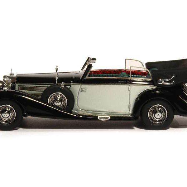 Mercedes-Benz 540K B Cabriolet 1937 Zwart/Zilver 1-43 GLM Models