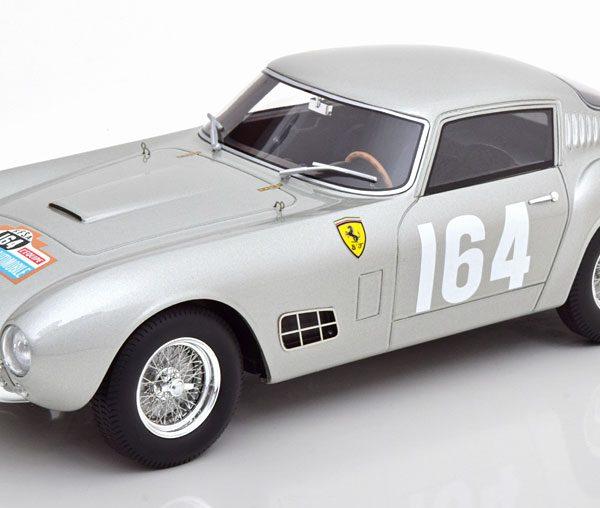 Ferrari 250 GT LWB No.164, Tour de France 1957 Estager/Schell Zilver 1-18 CMR Models ( Resin )