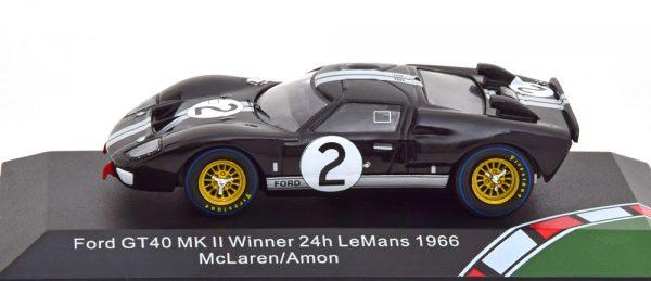Ford GT40 MK II Winner 24Hrs Le Mans 1966 McLaren/Amon Zwart 1-43 CMR Models