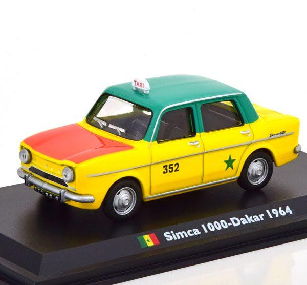 """Simca 1000 Taxi """"Dakar 1964"""" Geel / Groen / Rood 1-43 Altaya"""