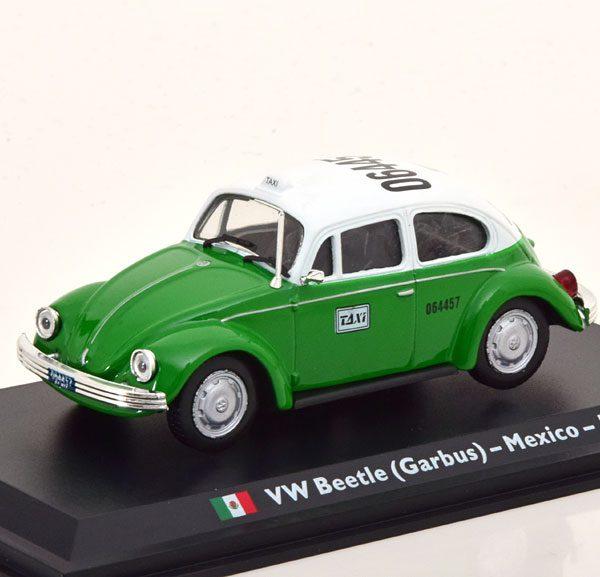 """Volkswagen Kever (Garbus) """"Taxi Mexico"""" 1985 Groen / Wit 1-43 Altaya"""