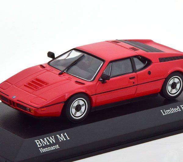 BMW M1 1980 Rood 1-43 Minichamps Limited 500 Pieces