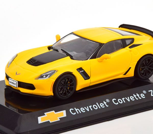 Chevrolet Corvette Z06 2017 Geel 1-43 Altaya Supercars Collection