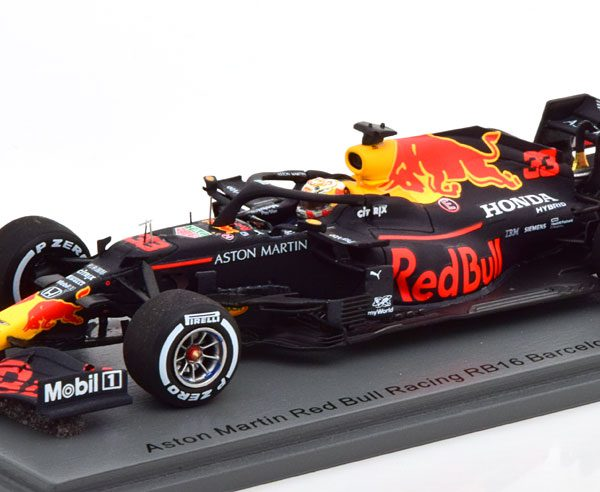 Aston Martin Red Bull Racing RB16 F1 Test Barcelona 2020 Max Verstappen 1-43 Spark ( Resin )