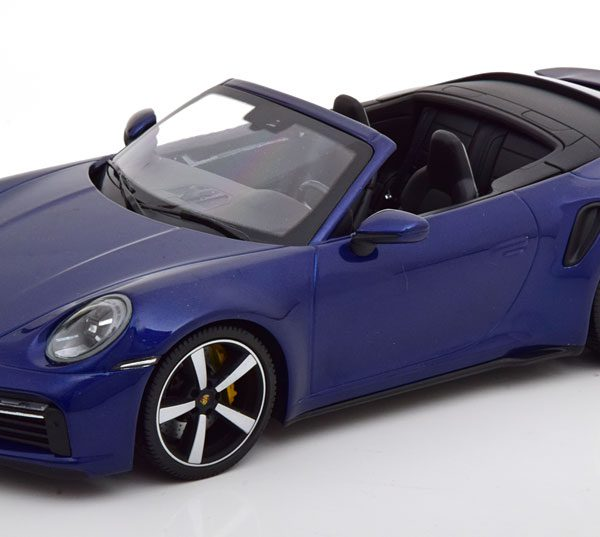 Porsche 911 (992) Turbo S Cabriolet 2020 Blauw Metallic 1:18 Minichamps Limited 302 Pieces