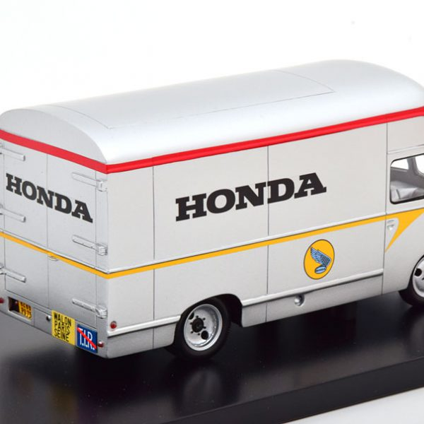 "Citroen U23 ""Honda Racing F1 Team"" Transporter 1965 Zilver / Rood 1-43 Spark ( Resin )"
