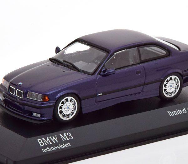 BMW M3 ( E36 ) 1992 Purple Mettalic 1-43 Minichamps Limited 500 Pieces