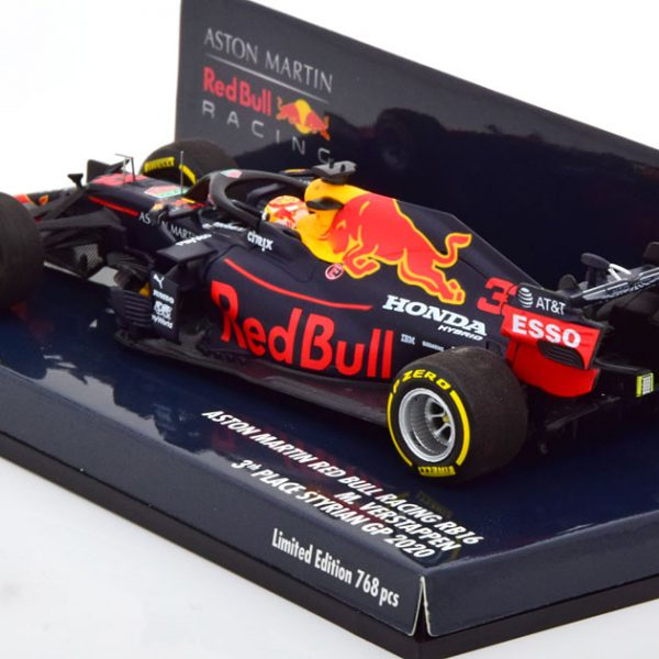 Aston Martin Red Bull Racing RB16 Max Verstappen 3e Place Styrian GP 2020 1-43 Minichamps Limited 768 Pieces